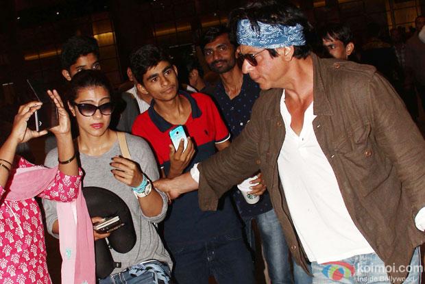 Kajol and Shah Rukh Khan Return from 'Dilwale' Shoot