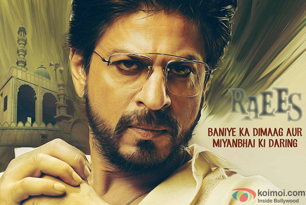 Shah Rukh Khan in a still from 'Raees' movie poster