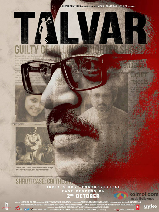 Irrfan Khan and Konkona Sen Sharma starrer 'Talvar' Movie Poster 1