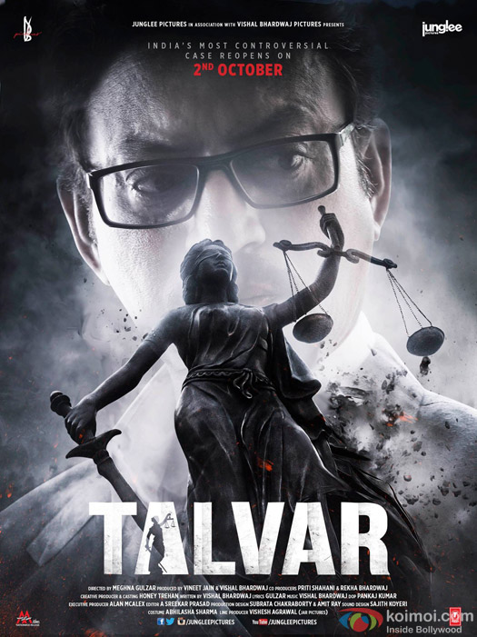 Irrfan Khan and Konkona Sen Sharma starrer 'Talvar' Movie Poster 2