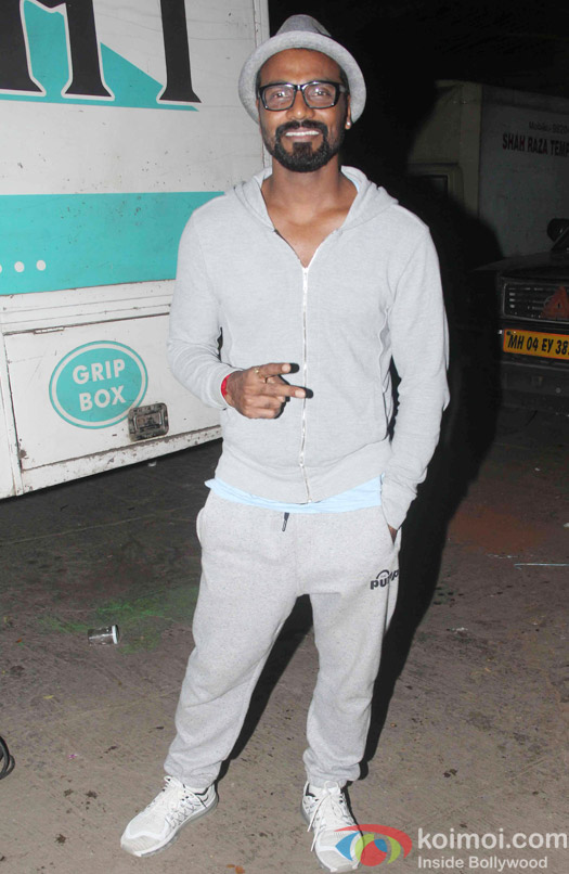 Remo D'souza snapped outside the sets of flying jat
