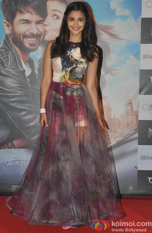 Alia Bhatt during the Trailer launch of Movie Shaandaar