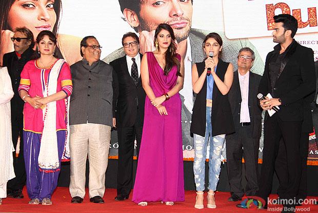 Jackie Shroff, Upasna Singh, Alia Bhatt and ManishPaul at trailer launch of wedding pullav