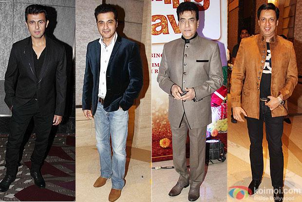 Sonu Nigam, Sanjay Kapoor, Jitendra and Madhur Bhandarkar at trailer launch of wedding pullav