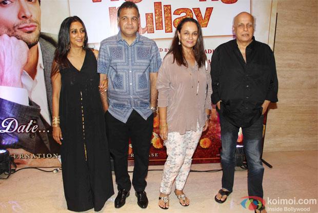 Raj nayak, Soni Razdan and Mahesh Bhatt at trailer launch of wedding pullav