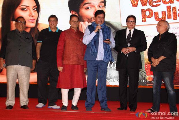 Satish Kaushik, Devid Dhawan, Shatrughan Sinha and Mahesh Bhatt at trailer launch of wedding pullav