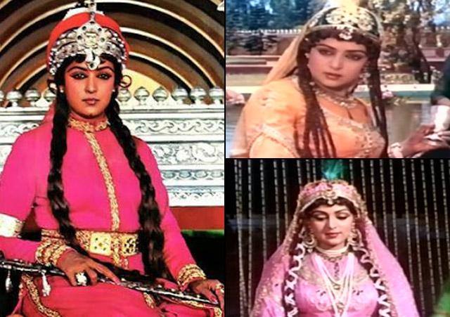 Hema Malini as Razia Sultan in Razia Sultan
