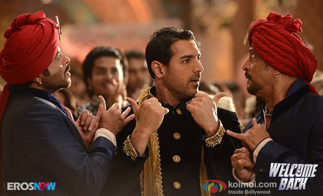 Anil Kapoor, John Abraham and Nana Patekar in 'Welcome Back' Movie Stills Pic 1