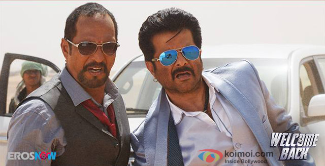 Nana Patekar and Anil Kapoor in 'Welcome Back' Movie Stills Pic 1