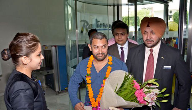 Aamir Khan arrives in Ludhiana, to start his 3 months schedule shoot for 'Dangal'