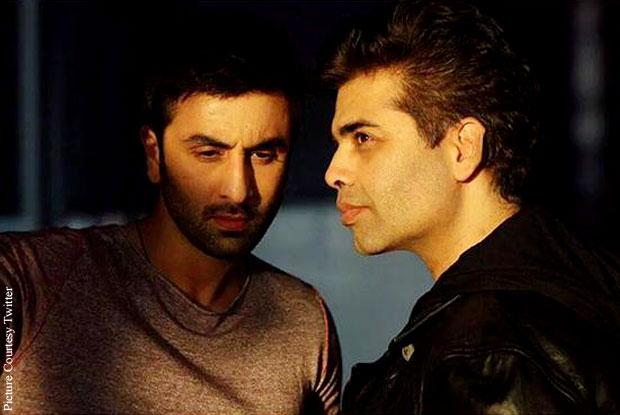 Ranbir Kapoor and Karan Johar were clicked on the sets of 'Ae Dil Hai Mushkil'