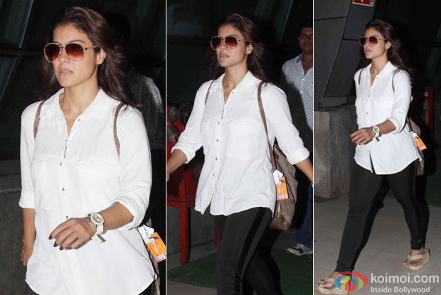 Kajol Spotted at airport