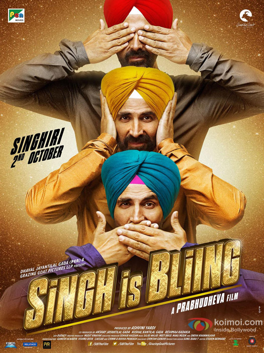 Akshay Kumar's 'Singhiri' On The Brand New Poster Of 'Singh Is Bliing'
