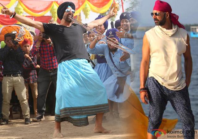 Akshay Kumar in a still from movie 'Singh Is Bliing (2015)'
