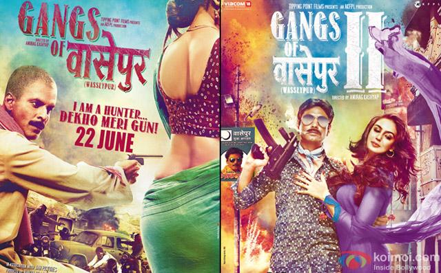 Gangs of Wasseypur 1 and Gangs of Wasseypur 2 Movie Poster