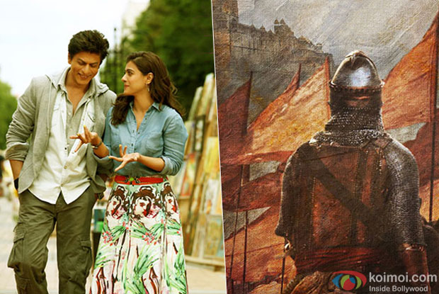 Shah Rukh Khan and Kajol in a movie Dilwale and Bajirao Mastani movie poster