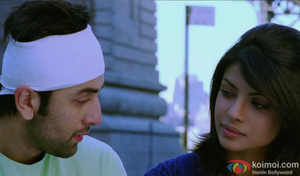 Ranbir Kapoor and Priyanka Chopra in a still from movie 'Anjana Anjani'