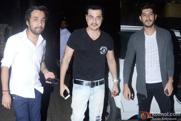 Siddhant Kapoor and Sanjay Kapoor during the Ganesh festival celebrations