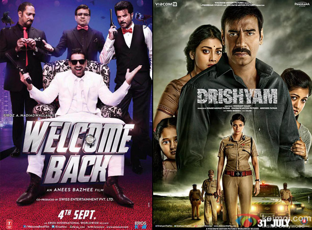 Welcome Back and Drishyam Movie Poster