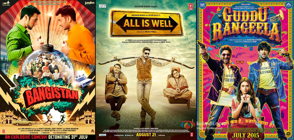 Bangistan, All Is Well and Guddu Rangeela Movie Poster