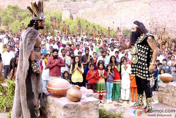 Gurmeet Ram Rahim Singh Ji Insan in a still from movie 'MSG-2 The Messenger'