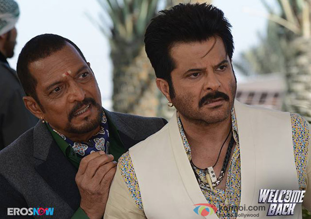Nana Patekar and Anil Kapoor in a still from movie 'Welcome Back'