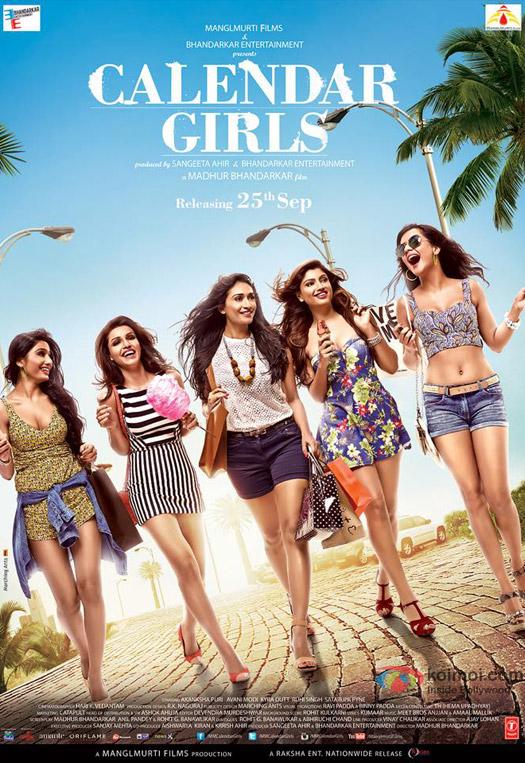 Satarupa Pyne, Avani Modi, Kyra Dutt, Akanksha Puri and Ruhi Singh starrer Calendar Girls Movie Poster 1