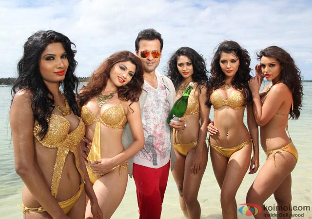 Akanksha Puri, Avani Modi, Kyra Dutt, Ruhi Singh and Satarupa Pyne in a still from movie 'Calendar Girls'