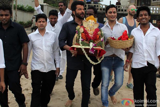 Anil Kapoor during the ganpati visarjan