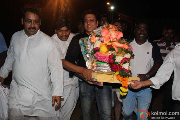 Govinda during the ganpati visarjan
