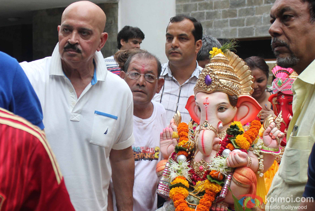 Rakesh Roshan during the ganpati visarjan