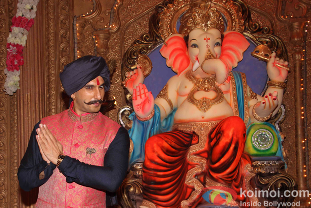 Ranveer Singh during the promotion of movie Bajirao Mastani