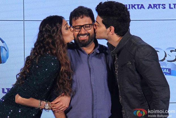 Athiya Shetty, Nikhil Advani and Sooraj Pancholi during The Hero Music Concert