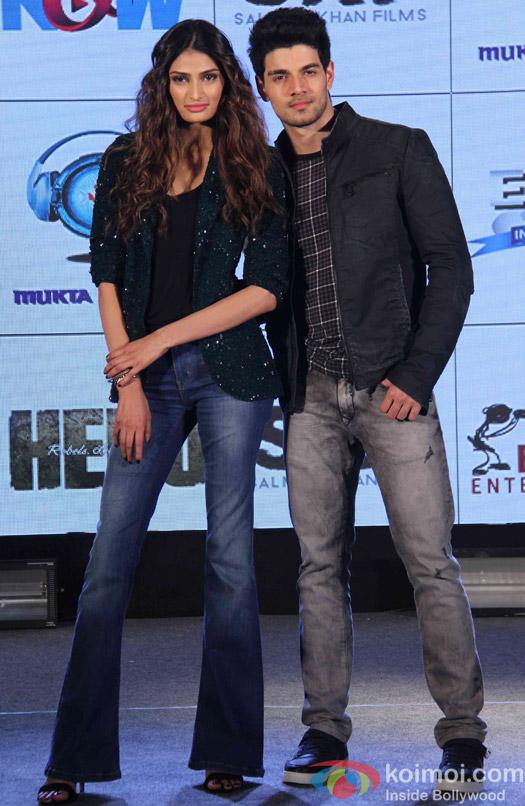 Sooraj Pancholi and Athiya Shetty During The Hero Music Concert