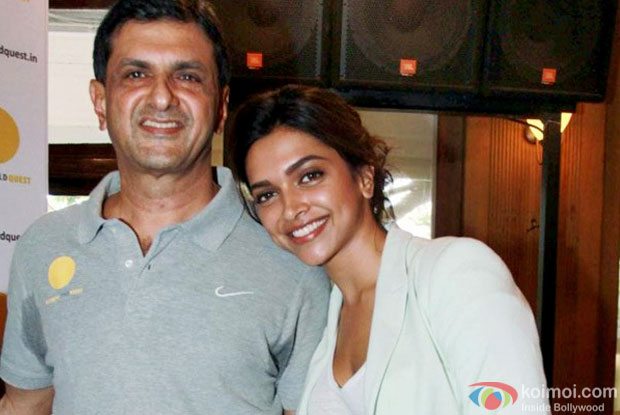 Prakash Padukone and Deepika Padukone