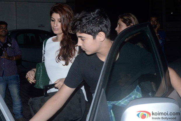 Twinkle Khanna and Aarav Kumar Spotted At PVR
