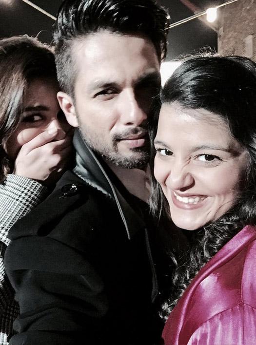 Alia Bhatt, Shahid Kapoor and Sanah Kapoor