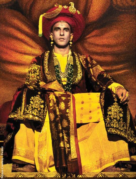 Ranveer Singh in a still from movie 'Bajirao Mastani'