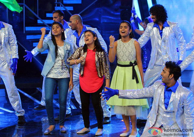 Contestants during the Indian Idol Junior Grand Finale