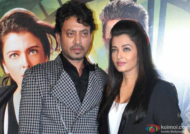 Irrfan Khan and Aishwarya Rai Bachchan at an event