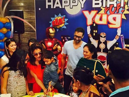 Kajol, Ajay Devgn beam with joy as son turns five