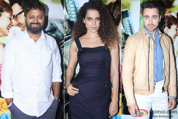 Nikhil Advani, Kangana Ranaut And Imran Khan Promoting Katti Batti