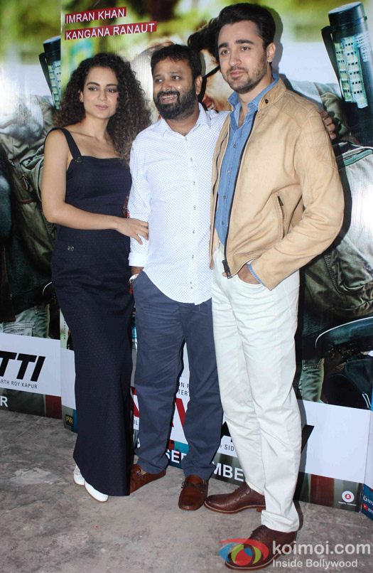 Kangana Ranaut, Nikhil Advani And Imran Khan Promoting Katti Batti