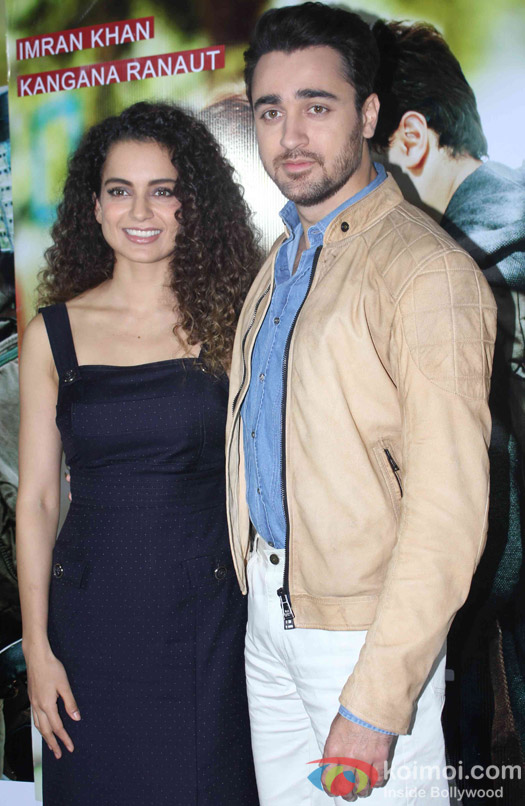 Kangana Ranaut And Imran Khan Promoting Katti Batti