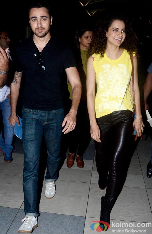 Imran Khan And Kangana Ranaut Clicked At Airport