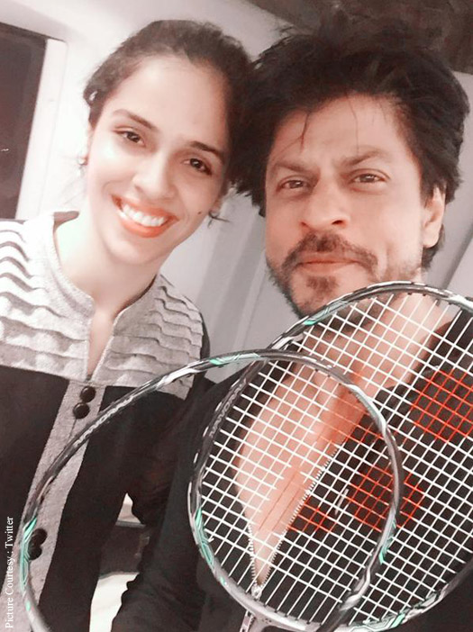 Saina Nehwal and Shah Rukh Khan