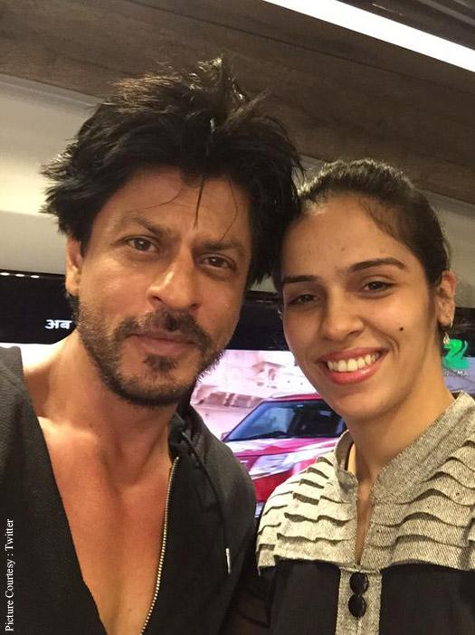 Shah Rukh Khan and Saina Nehwal