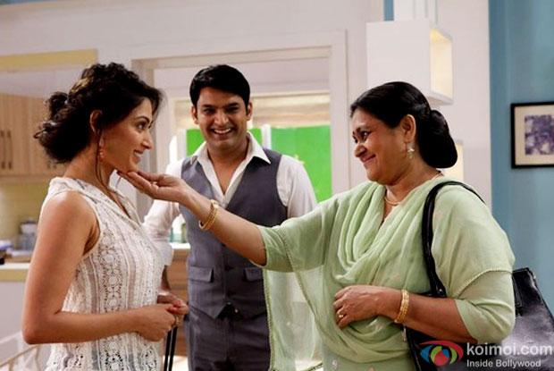 Kapil Sharma and Supriya Pathak in a still from movie 'Kis Kisko Pyaar Karoon'