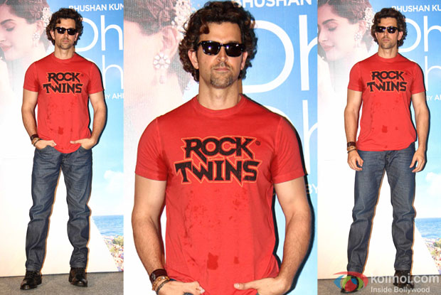 "Hrithik Roshan during the launch of song ""dheere dheere se"""