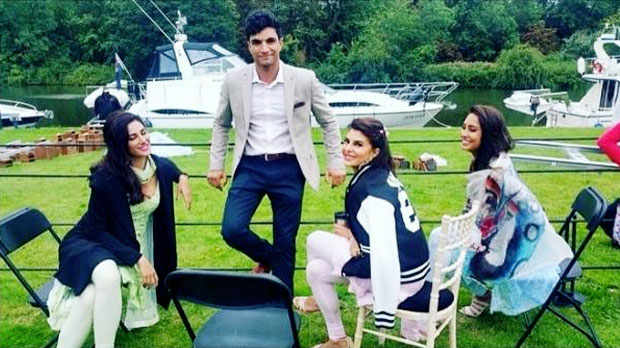 Nargis Fakhri, Jacqueline Fernandez and Lisa Haydon on location of movie 'Ae Dil Hai Mushkil'